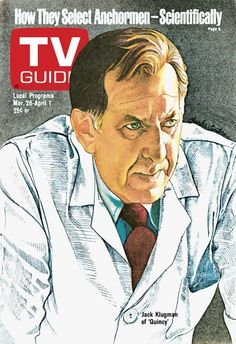 TV Guide March 26, 1977 - Jack Klugman of Quincy.  Illustration by Charles Santore.
