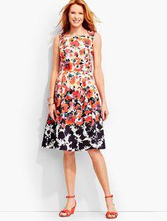 Cascading Garden Dress - Talbots