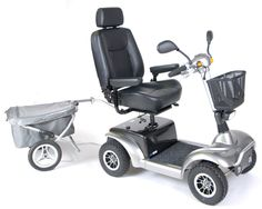 """Prowler 3410 Four-Wheel Heavy Duty Mobility Scooter - available with 20"""" or 22"""" Captains Seat. #scooter #mobility #disability #geriatric #elder #bariatric #Prowler3410 https://www.facebook.com/VidaCura 