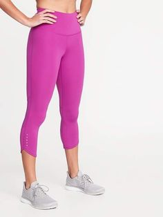 6e5f14cd690bb1 High-Rise Elevate Compression Run Crops For Women. Petite ActivewearPear ...