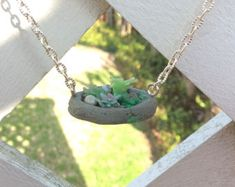 Wearable Planter Bouquet in a Pot Necklace Planter Necklace