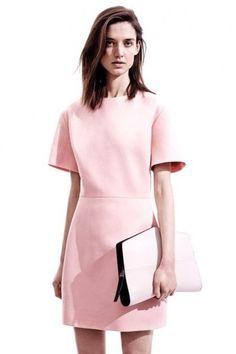 Vestito e clutch rosa