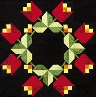 """Patriotism's Eternal Bloom Block 2 from Out Of The Darkness/A New Beginning Block-Of-The-Month by Pam Bono - 18"""" finished"""