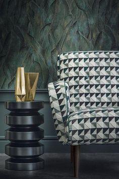 Casamance Opus autumn/winter 2015 Luxury Chairs, Luxury Furniture, Furniture Design, Casamance, Fabric Armchairs, Residential Interior Design, Wallpaper Decor, Living Room Interior, Chair Design
