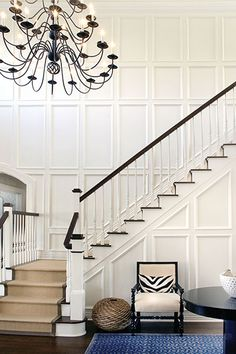 Add some grandness to your space with recessed or raised panelling. (Photo, Bob Frame, Elsa Soyars Interiors.)