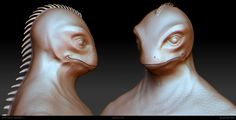 #Zbrush #High poly #Reptiloid #Alien