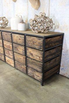 Wonderful Industrial Look Chests Of Drawers · Old Barn Wood, Reclaimed Barn Wood,  Vintage Wood Crates, Custom Made Furniture,