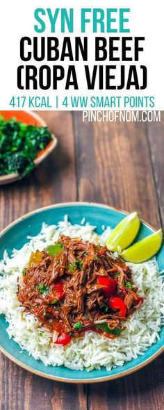Syn Free Cuban Beef Ropa Vieja Pinch Of Nom Slimming World Recipes 417 kcal Syn Free 4 Weight Watchers Smart Points Slimming World Dinners, Slimming World Recipes Syn Free, Slimming Eats, Slimming World Beef Curry, Slimming World Lunch Ideas, Syn Free Food, Slow Cooker Recipes, Cooking Recipes, Slow Cooking