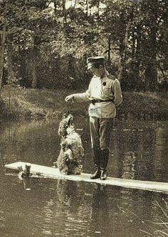 Tsesarevich Alexis with his spaniel Joy. Tsarskoe Selo, Photo, 1917 | Flickr - Photo Sharing!