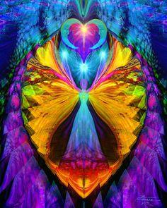 Chakra psicodélico energía Reiki arte pared decoración Vision Quest 8 x 10 Print