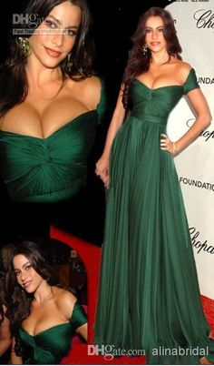Free shipping, $94.47/Piece:buy wholesale Charming Off The Shoulder Emerald Green Prom Dress Long Chiffon Ruffles Floor Length Capped Sleeves Red Carpet Celebrity Dresses from DHgate.com,get worldwide delivery and buyer protection service.