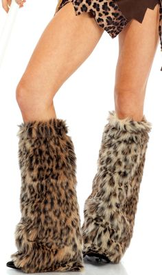 Welcome to the jungle! Get ready to take a walk on the wild side in these Animal Print Furry Leg Warmers. Velcro Closure Set Includes: Leg Warmers Featured Colors: Animal Print Acrylic, Polyester Made in USA Leg Warmers For Women, Animal Costumes, Adult Costumes, Halloween Costumes, Halloween 2016, Halloween Ideas, Halloween Accessories, Costume Accessories, Outfits
