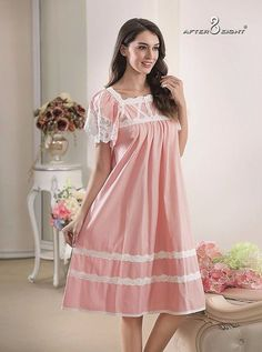 Bait Al Jallabiyat brands is celebrated for her timeless and elegant designs of intimate apparel, lingerie, and night dress products for the womens. Pajama Outfits, Pink Outfits, Hot Outfits, Night Gown Dress, Cotton Nighties, Nightgowns For Women, Luxury Lingerie, Sleep Dress, Designer Dresses