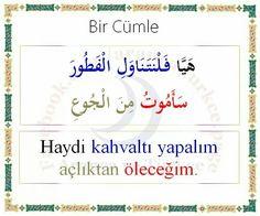 ... Learn Turkish Language, Arabic Language, Turkish Lessons, English Vinglish, Language Quotes, Learning Arabic, Teaching English, Sentences, Messages