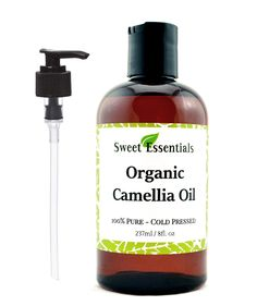 Organic Camellia Seed Oil | Imported From Japan | 8oz Bottle | 100% Pure | 100% Organic | For Hair Skin Use | By Sweet Essentials *** This is an Amazon Affiliate link. Check out the image by visiting the link.