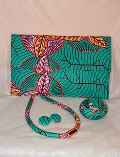 Ankara Accessories Set by HawasBoutique on Etsy