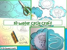Water Cycle Craft: Water Cycle Craftivity} by Robin Sellers Water Cycle Craft, Water Cycle Project, Water Cycle Activities, Life Cycle Craft, Science Activities, Science Projects, Science Ideas, Science Experiments, Weather Activities