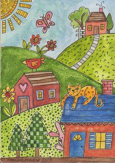 Basic Drawing For Kids, Art Drawings For Kids, Easy Drawings, Art For Kids, Painting For Kids, Diy Painting, Color Art Lessons, Farm Quilt, 3rd Grade Art