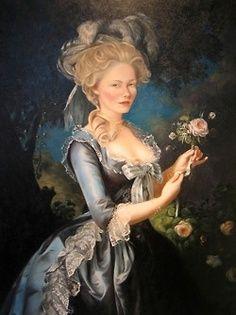 Kirsten Dunst as Marie Antoinette, painted by Jenna Gribbon