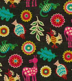 Home Decor Print Fabric-Waverly Mexicali Desert Flower