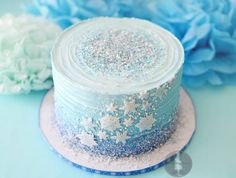 Birthday Cake for a 'Frozen' Party, by MadHouse Bakes #Elsabirthdaypartyideas #Party