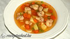 Kötött tészta leves Fruit Salad, Shrimp, Salsa, Mexican, Meat, Vegetables, Ethnic Recipes, Food, Inspiration