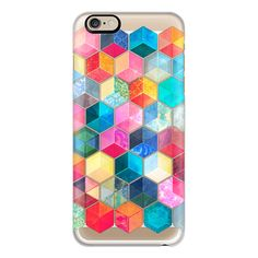 iPhone 6 Plus/6/5/5s/5c Case - Crystal Bohemian Honeycomb Cubes -... (2.280 RUB) ❤ liked on Polyvore