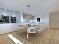 Kitchen, Table, Furniture, Home Decor, Pancake, Kitchen Models, Modern Kitchens, Kitchen Measurements, Open Kitchens