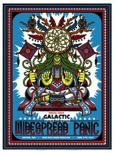 Widespread Panic 2014 poster, Boston show.