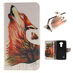 LG G Stylo / LS770 Case, Luckycheng [Stand Feature] [Slim Fit] Wallet Case, Premium PU Leather Flip Cover [Card Slots] For LG G Stylo / LG G Stylus LS770 (Colorful wolf) - Brought to you by Avarsha.com