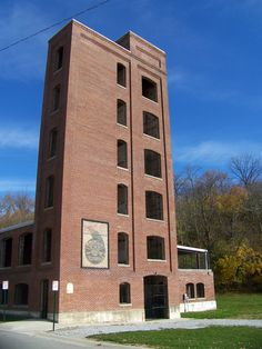 The Starr-Gennett Pavilion in the Whitewater Gorge at Richmond, Indiana.  www.visitrichmond.org
