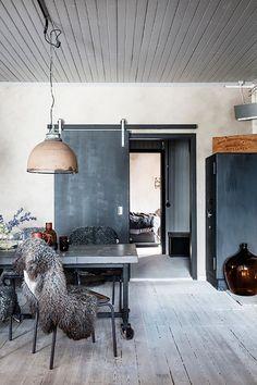 Inside a Gray Swedish Home With a Raw Edge via @MyDomaine