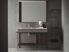 """""""Craft is Novello's last goal in its continuous research for functionality and aesthetic. It is a bathroom furniture collection that recovers the craftsmanship in contemporary form"""" - LUXE DESIGN - (Novello collection, Venice, Italy) Bad Inspiration, Interior Design Inspiration, Bathroom Inspiration, Modern Bathroom, Small Bathroom, Bathroom Ideas, Bathroom Vanities, Unit Bathroom, Minimal Bathroom"""