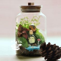 Bryophytes Totoro Desk Decoration Birthday Gift Plant Flowers Home Decor Bonsai From Ygh942015, $84.16 | Dhgate.Com