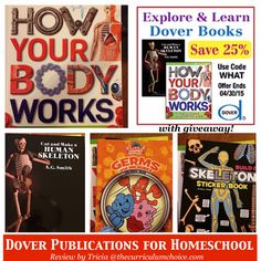Explore and Learn Science with Dover Publications for Homeschool - Discount code and giveaway!