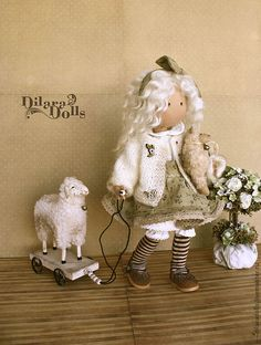 """текстильная кукла """"Little Lamb"""" - подарок,подарок девушке,подарок женщине"""