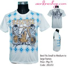 "Description:                     ROCK SKULL PRINT COTTON MEN'S REVERSE SHIRT  SHOULDER: 18""  LENGTH: 25""    Price: Php 75.00  Kindly place your orders at www.aionlineshop.com"