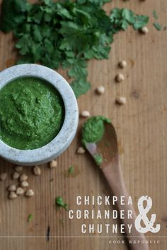 Green & Healthy - Chickpea & Coriander Chutney.