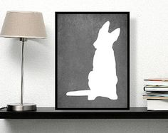 German Shepherd Art Print All You Need Is Love by DIGIArtPrints