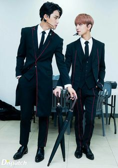 Mingyu & Joshua | Seventeen | I swear suits make them so much more attractive