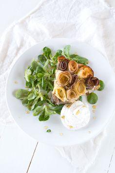glutenfreie Kartoffel Quiche mit Rosen