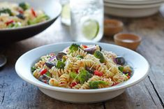 Italian Pasta Salad Recipe - Kraft Recipes Going to sub feta for the Parmesan and kalmata for the black olives.  Sort of Mediterranean or Greek themed