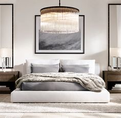 MINIMALISTMINDSET:: This space is simple but has the right elements to make it something special. Make your dream bedroom come true. - Architecture and Home Decor - Bedroom - Bathroom - Kitchen And Living Room Interior Design Decorating Ideas - Modern Bedroom Design, Contemporary Bedroom, Bedroom Designs, Modern Master Bedroom, Master Bedrooms, Modern Interior, Modern Bedroom Lighting, Minimalist Bedroom, Dream Bedroom