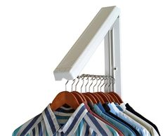 Amazon.com: The Original InstaHANGER Model AH12/M White – Folding Collapsible Wall Mounted Clothes Storage/Drying Rack: Home & Kitchen | @giftryapp