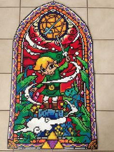 Zelda Wind Waker Stained Glass Perler by 8bitBalliet on Etsy