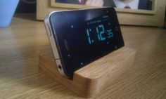 The Original Solid Oak i-phone smart phone holder wooden stand. £5.95