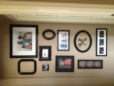 Great way to disguise your thermostat! Hide Thermostat, Wall Fixtures, Mobile Home, Small Rooms, Home Remodeling, Picture Frames, Projects To Try, Gallery Wall, Thermostats