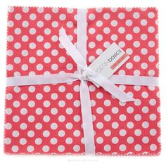 "Modern Basics Pink 10"" Squares - Michael Miller Fabrics - Michael Miller. Purchased April 2015"