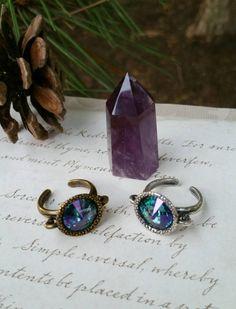 Gypsy Jewelry  Crystal Ring  Aurora by CrystalJypsyJewelry on Etsy
