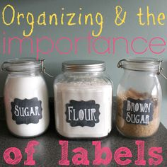 Organizing and the Importance of Labels {not just in the kitchen!}